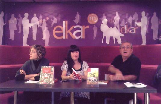 Ezekiel liburuaren aurkezpena, Bilintx liburudenda, Donostia, 2009.